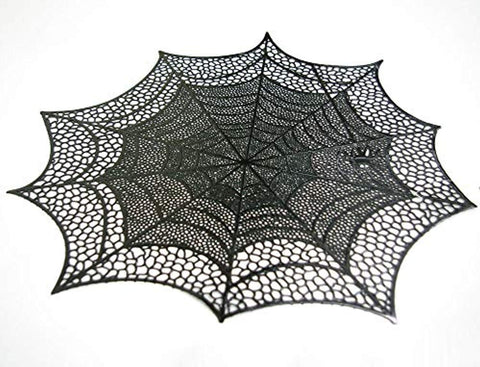 Placemat Spiderweb Vnl - Blck