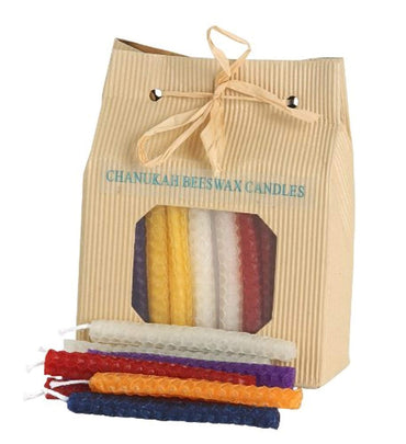 Chanukah Candles for Menorah Hanukkah Celebrations 45 Beeswax Candles Multi Colors