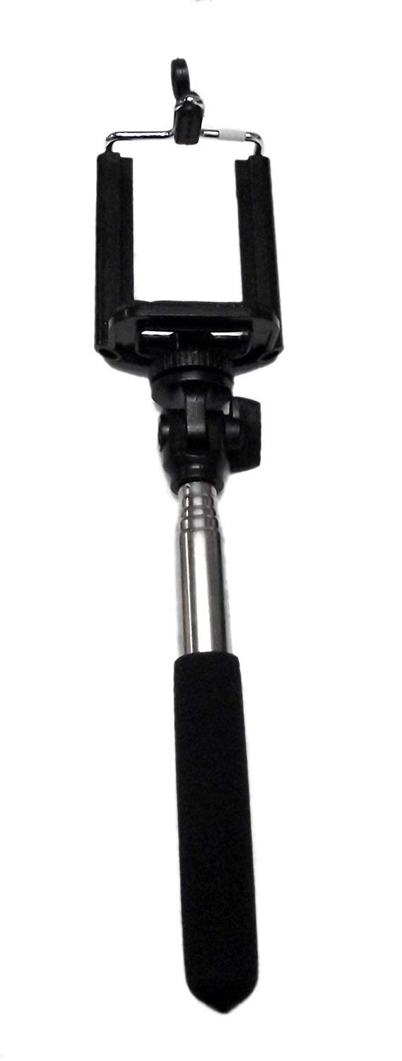 Selfie Stick Expandable Self Portrait Phone Holder (Black)