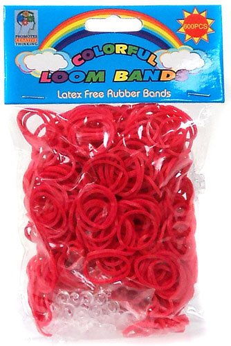 Colorful Loom Bands 600 RED Rubber Bands