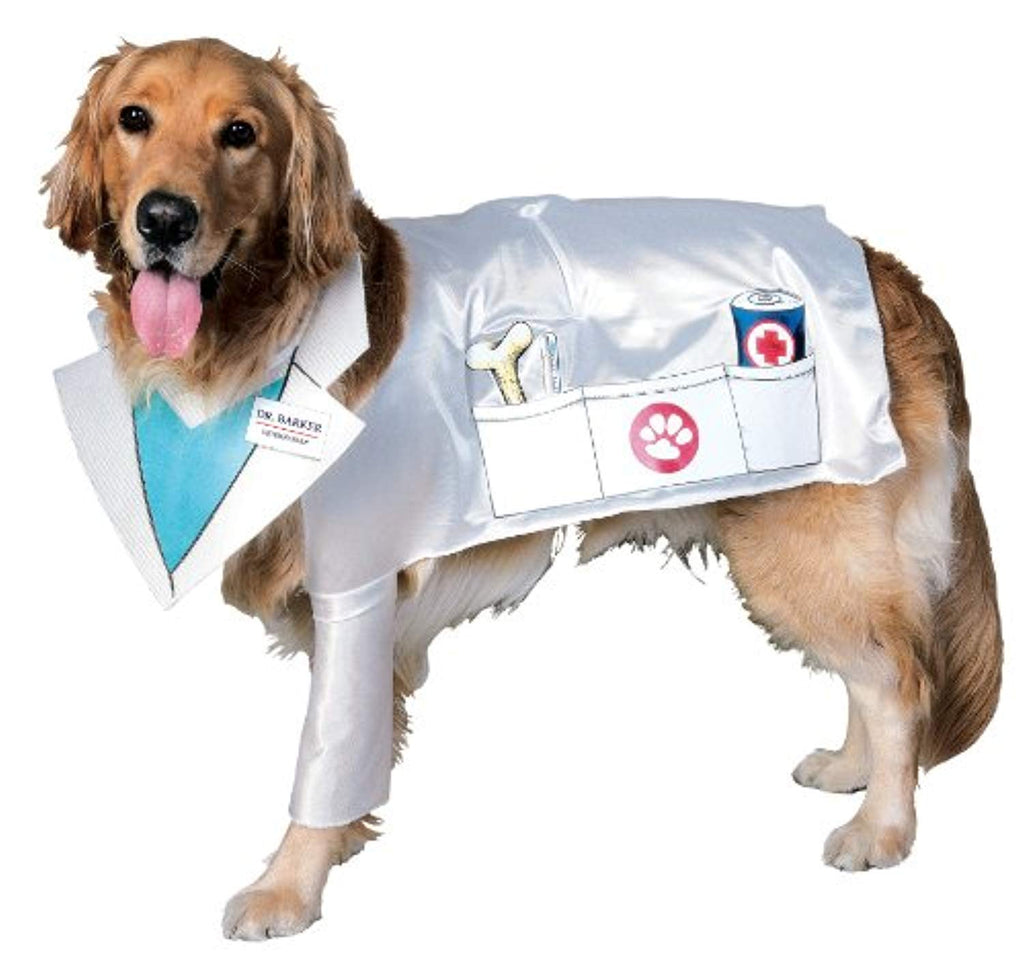 Rubies Costume Halloween Classics Collection Pet Costume, Doctor Barker Veterinarian Dog, Medium
