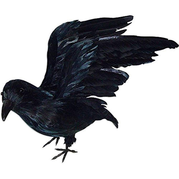 Standing Crow with Open Wings Prop