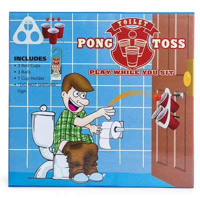 Toilet Pong Toss Game Play While You Sit