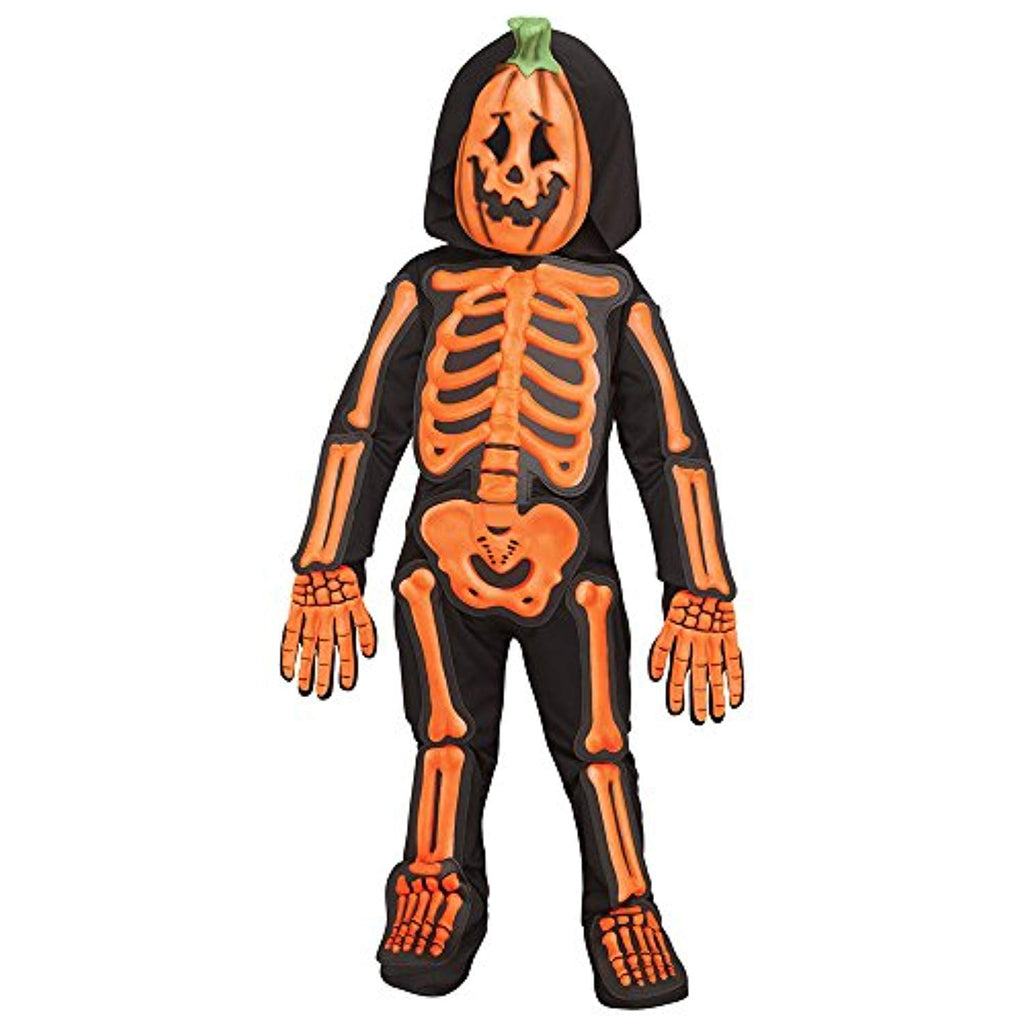 Toddler Skele-Jack Orange Skeleton Halloween Costume