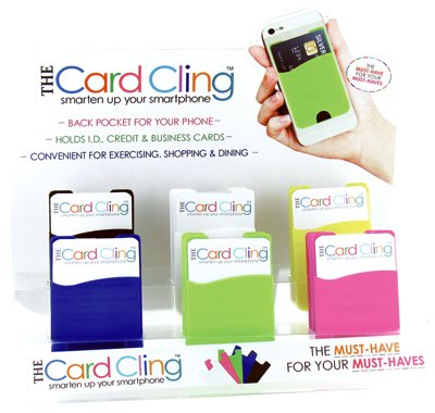 Silicone Stick On Wallet Cell Phone  Grab Bag We Choose Color  1 Wallet