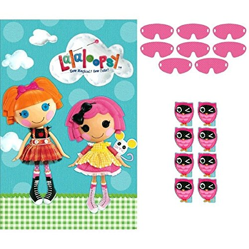 "Adorable Lalaloopsy Birthday Party Game Activity (4 Pack), Blue/Pink, 25"" x 37""."