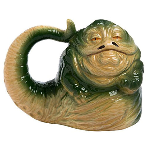 Vandor 55695 Star Wars Jabba the Hutt Shaped Ceramic Soup Coffee Mug Cup, 26 Ounce