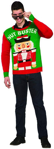 Forum Men's Ugly Christmas Sweater, Nut Buster