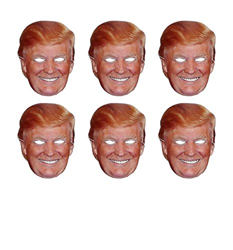 Aahs engraving (Set of 6) Donald Trump Party Face Mask, 11 X 8.5 inches