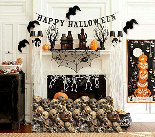 Aahs Engraving Halloween Haunted House Life Size Cardboard Stand Up (Pile of Skulls)