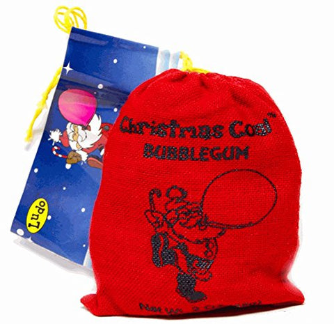 Sack of Red Christmas Coal Bubble Gum 2 OZ