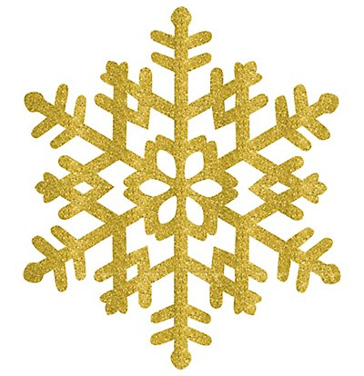 "Amscan 15"" Gold Glitter Snowflake Decoration-1 piece"