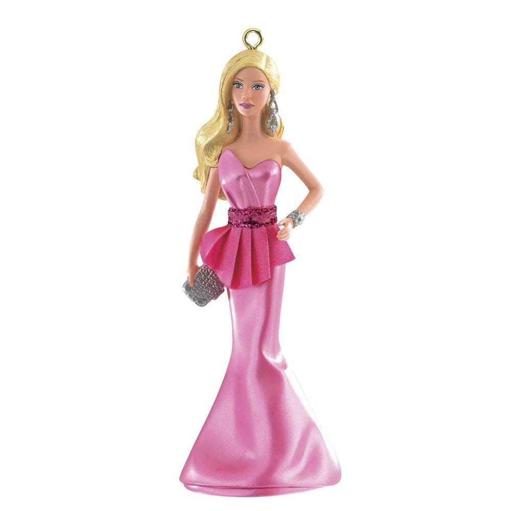 1 X The Barbie Look Red Carpet Barbie 2nd in Series 2014 Carlton Heirloom Orn...