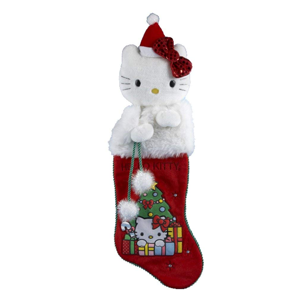 Hello Kitty Kurt Adler Plush Head Stocking