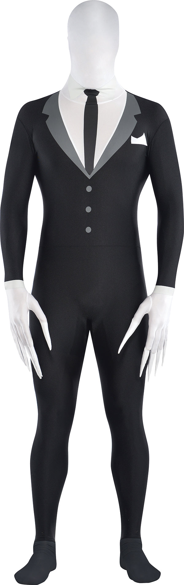 Amscan Adult Slender-Man Party-suit Costume - Large (Fits up to 5'10), Black