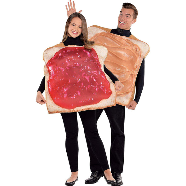 AMSCAN Peanut Butter and Jelly Classic Halloween Costume for Adults, Standard, with Included Accessories