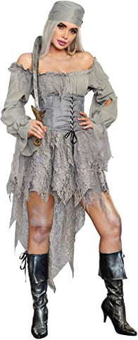 Dreamgirl Women's Pirate Ghost- Medium