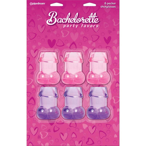 Bachelorette Party Pecker Shot Glasses Assorted Colors, Best by Pipedream Products