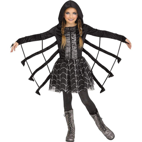 Fun World Sparkling Spider Girls Halloween Costume