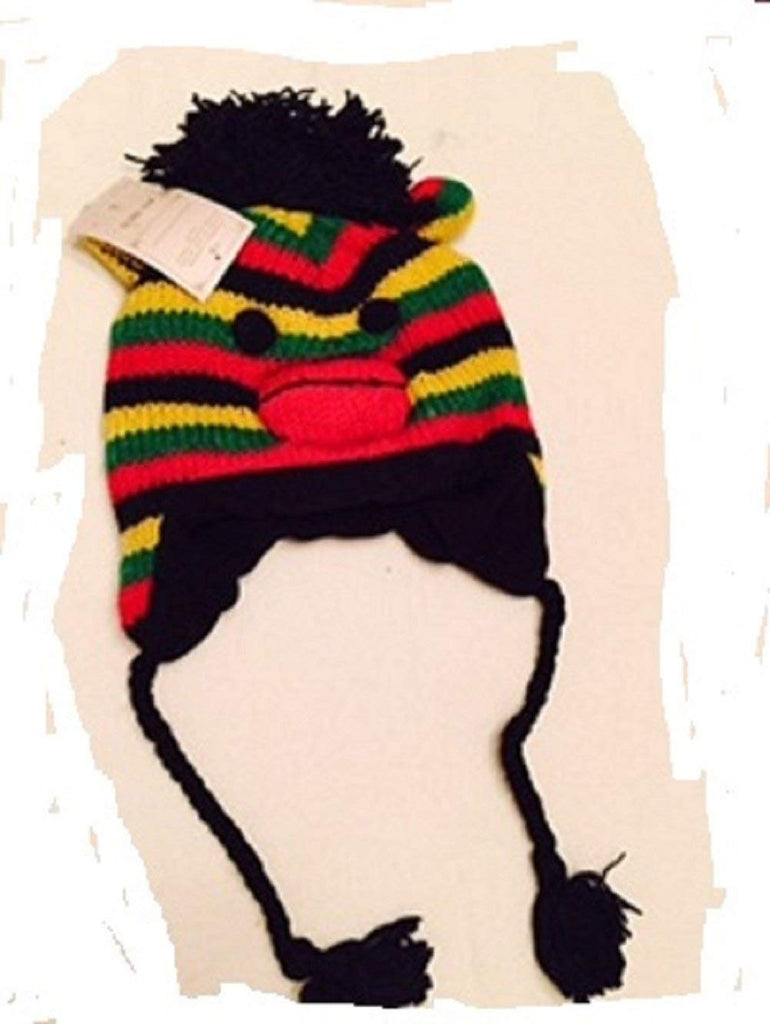 Animal Face Hat The Collecton Royal RASTA MONKEY Winter Ski Hat Cap TEEN TO ADULT Warm Gift