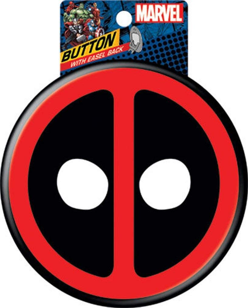 Ata-Boy Marvel Comics Deadpool Logo Giant Button with Easel