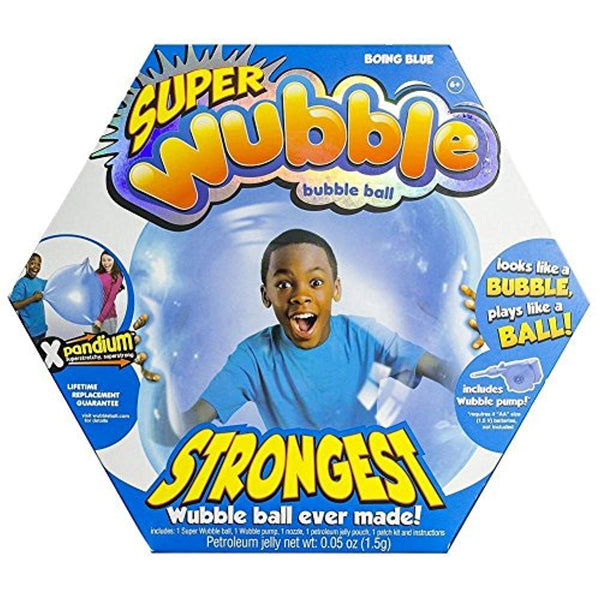 WUBBLE The Amazing Tear-Resistant Super Bubble Ball with Pump - Boing Blue