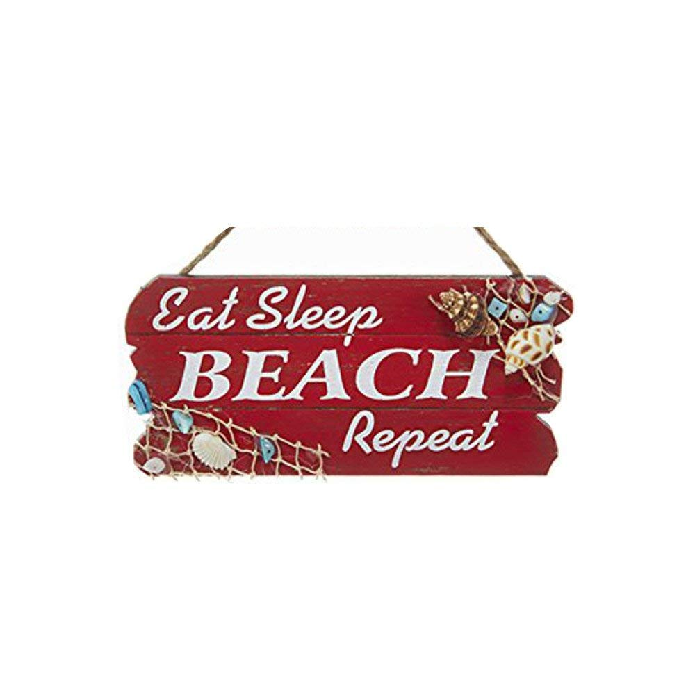 Kurt Adler Beach Wooden Plaque Signs