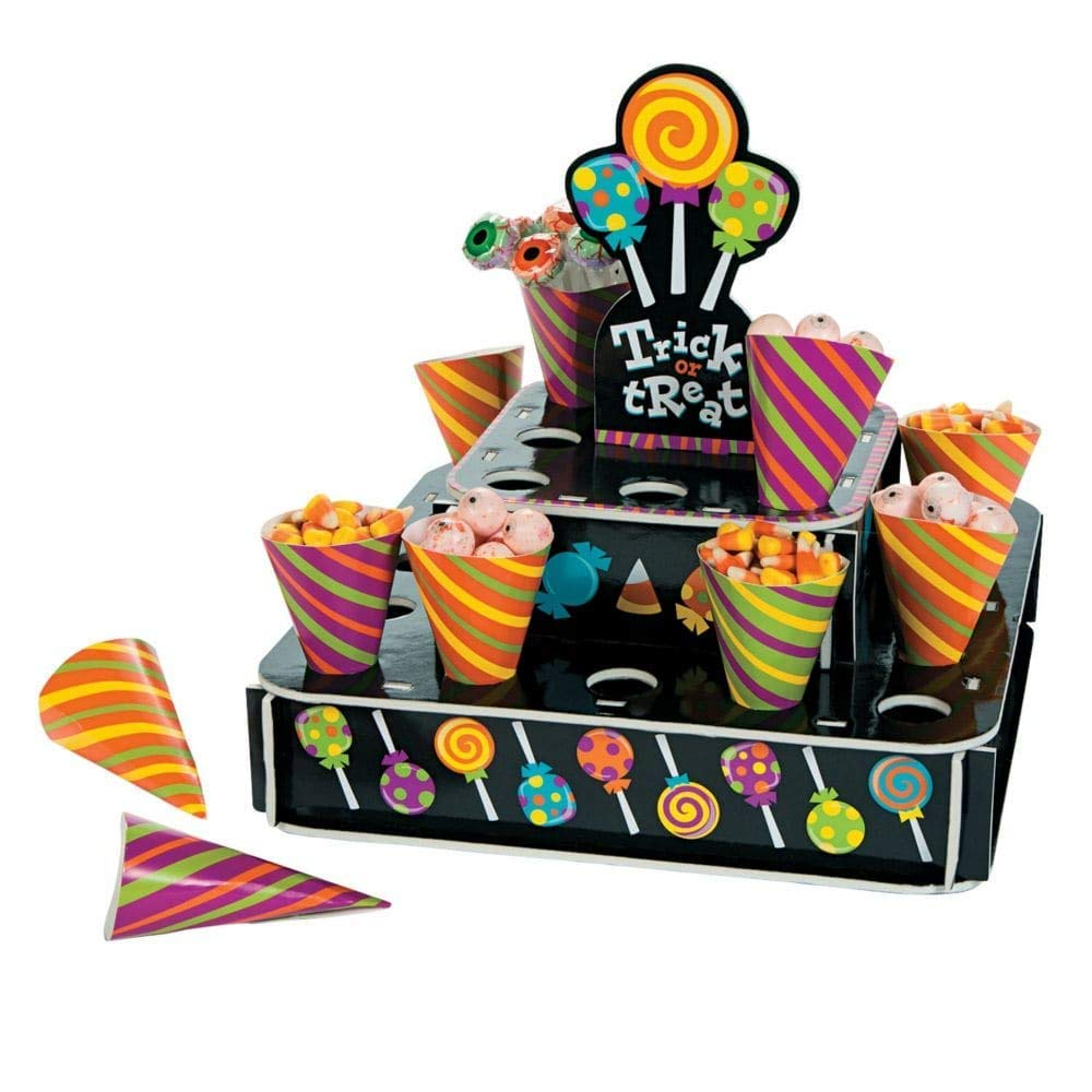 Halloween Treat Cones with Stand