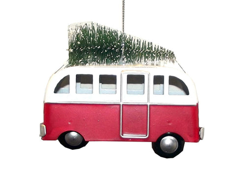 Ganz Winter Cheer Transport Tin Tree Ornament