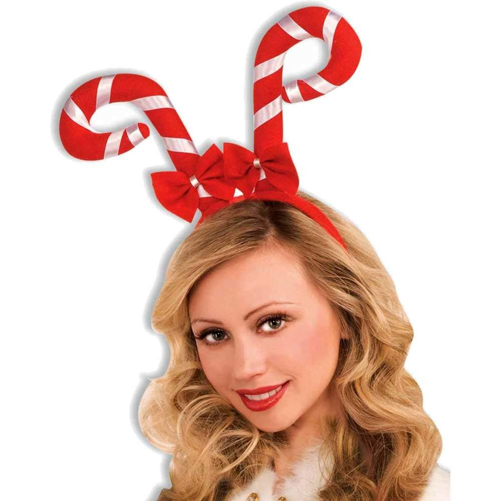 Forum Novelties Elf Hat with Pompoms on Headband, Red
