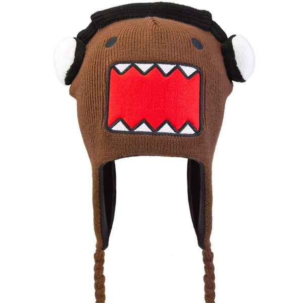 Domo - Unisex-adult Domo - Headphones Domo Peruvian Knit Hat Brown
