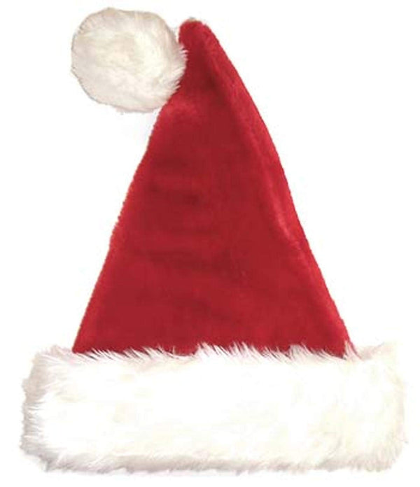 "Sterling 17"" Plush Red and White Traditional Christmas Santa Hat - Adult Size"