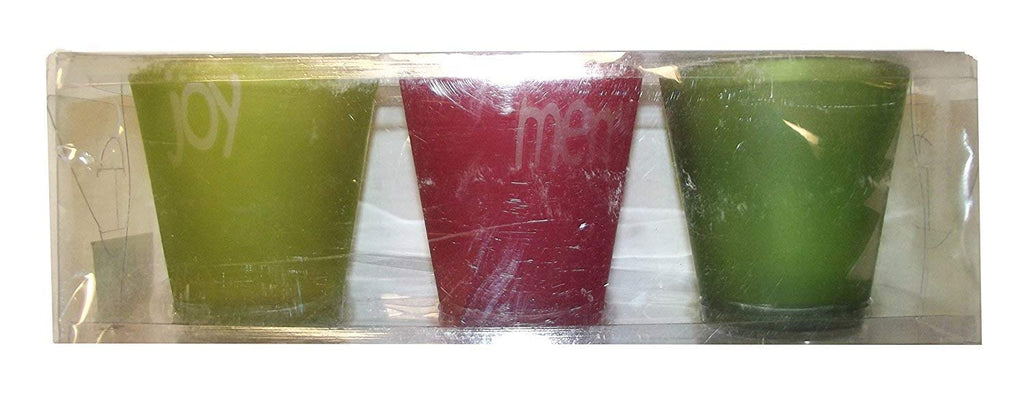 Holiday Votive Candle Holders - Set of 3