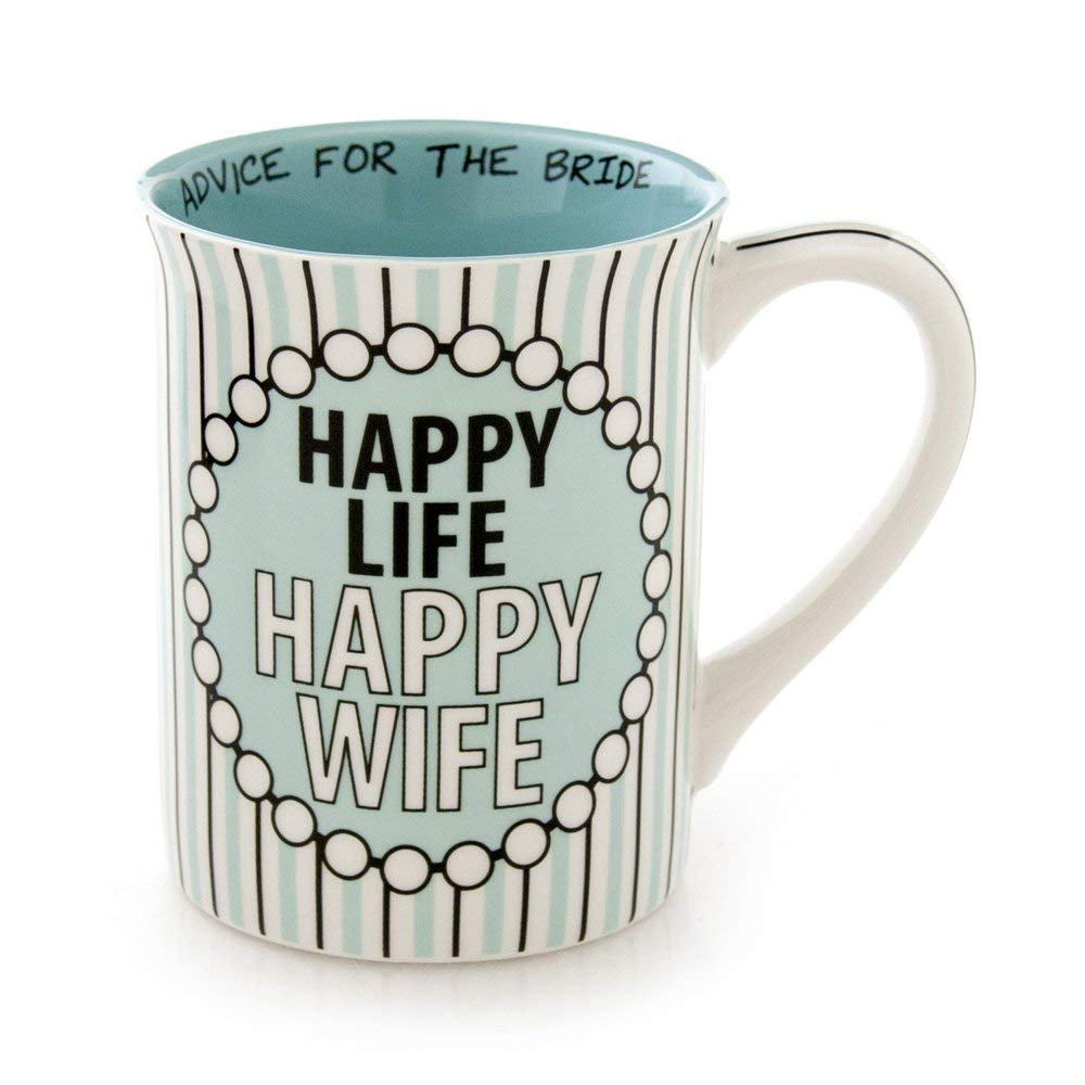 "Enesco Our Name is Mud by Lorrie Veasey Happy Life Mug, 4.5"", Multicolor"