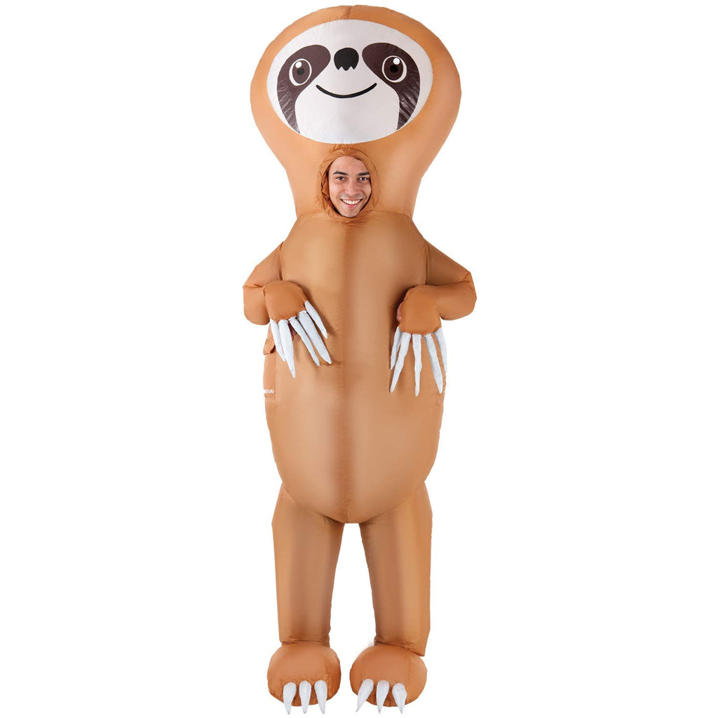 AFG Media LTD Inflatable Sloth Halloween Costume for Men, One Size, with Included Accessories