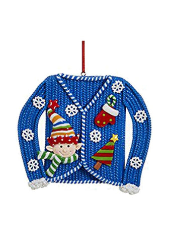Kurt Adler Ugly Christmas Sweater Ornament