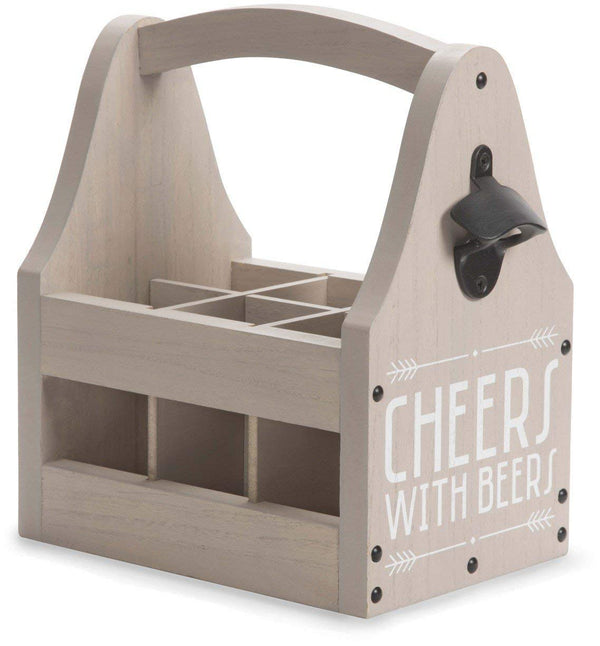 Man Crafted - Cheers with Beers Bottle Opener Beer Tote 6 Pack Bottle Holder