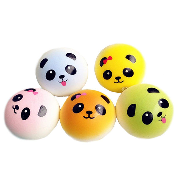 Squishies Squishy Small Panda Face Color Keychain Assorted-(Choices may vary)