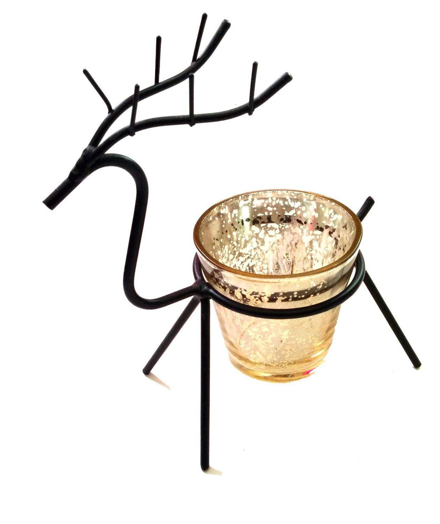 Christmas Candle Holder - Gerson International 5.3 inch Reindeer Candle Holder