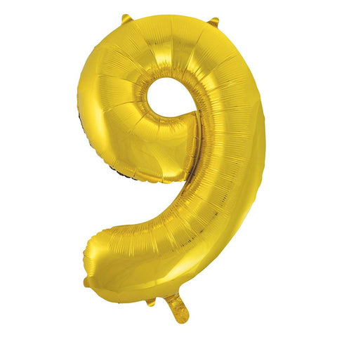 "34"" Foil Gold Number 0 Balloon"