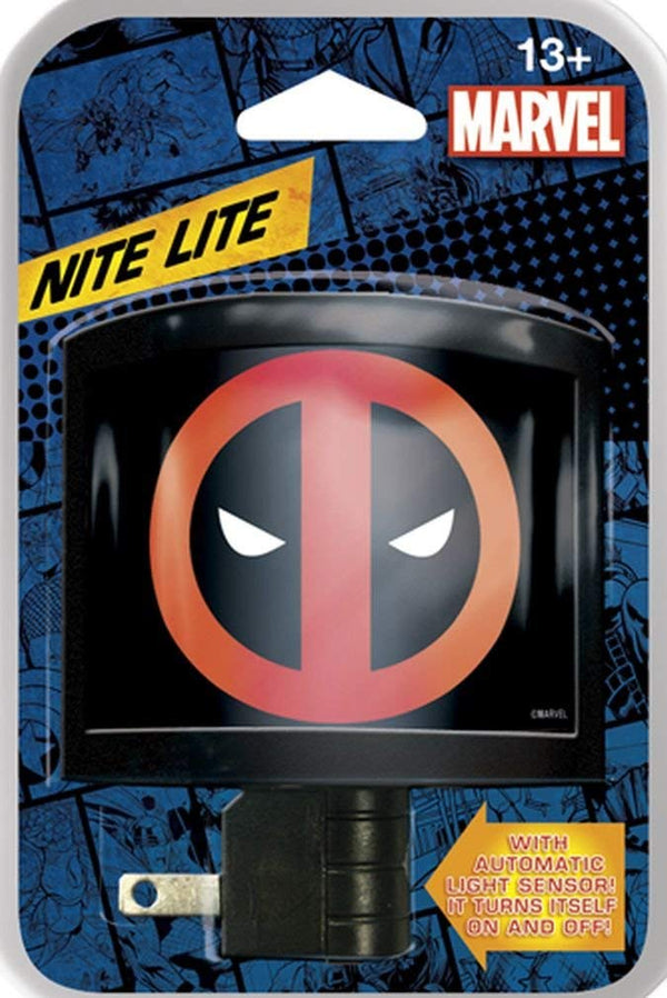 Ata-Boy Marvel Comics Deadpool Logo Automatic On/Off LED Bulb Nite Lite