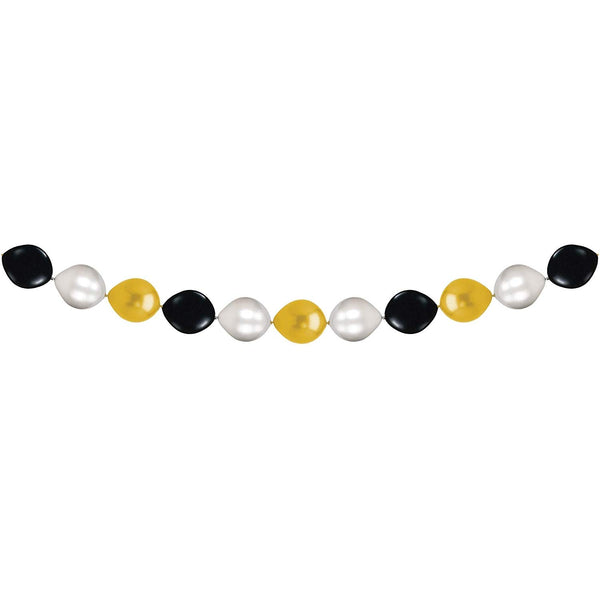 "Black, Gold, and Silver 13"" Balloon Garland Latex Balloons (10ct)"