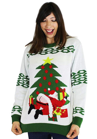 Butt Crack Santa Ugly Christmas Sweater- FunQi