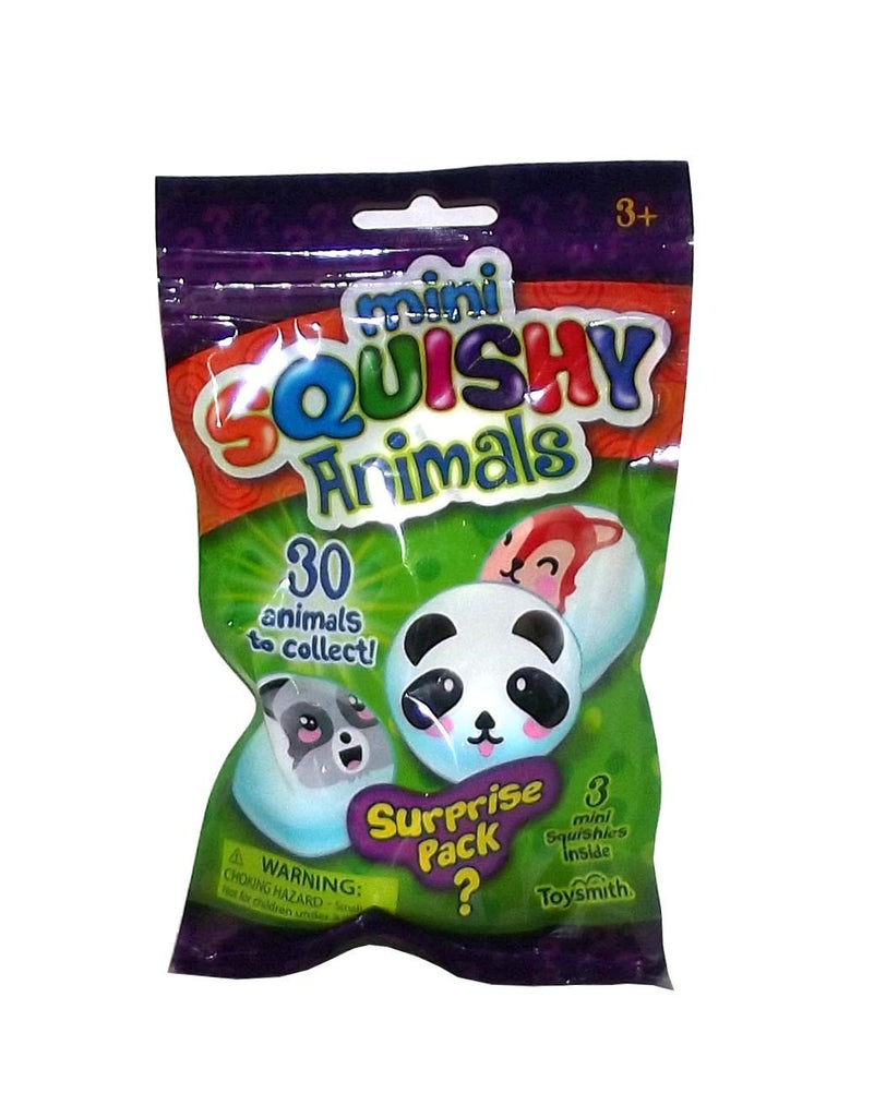 Toysmith Mini Squishy Animals Mystery Pack, 1 Count, 3 Pieces