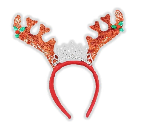 Forum Novelties Princess Reindeer Headband, Red