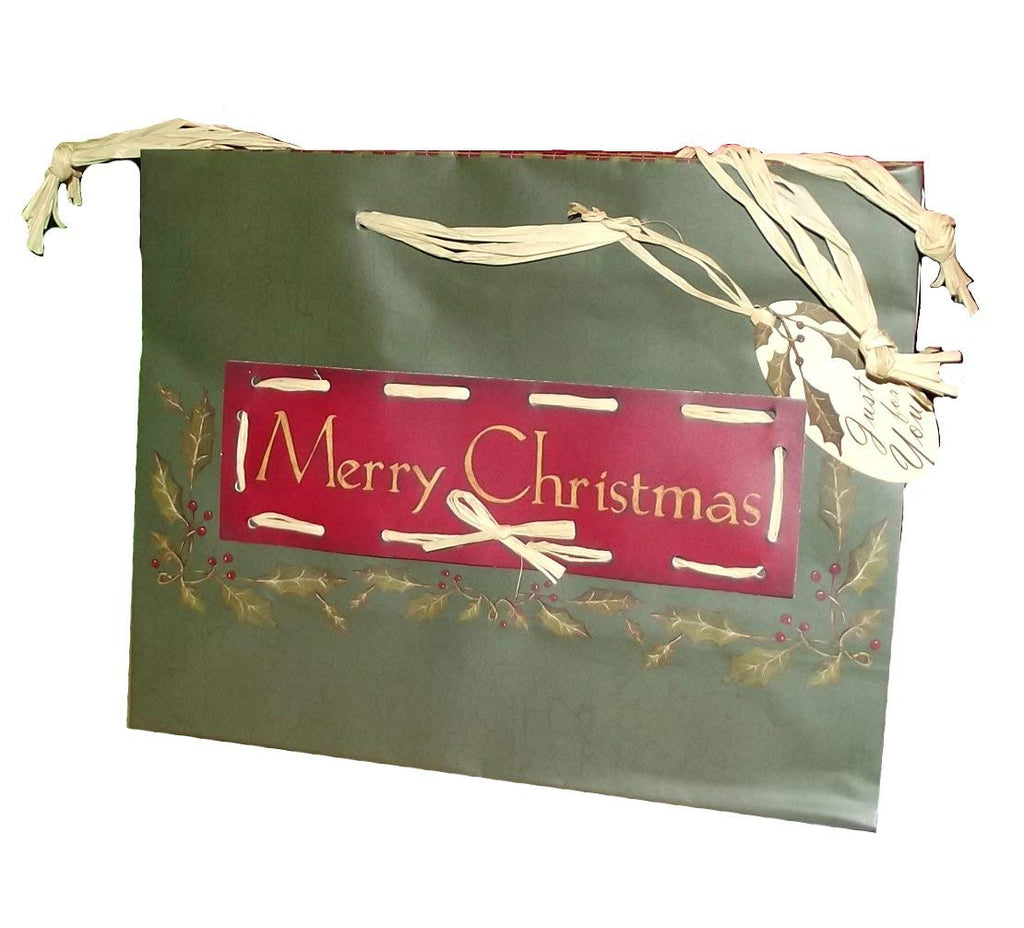 "7""x9"" Merry Christmas Medium Handmade Holiday Gift Bag-1 pc"