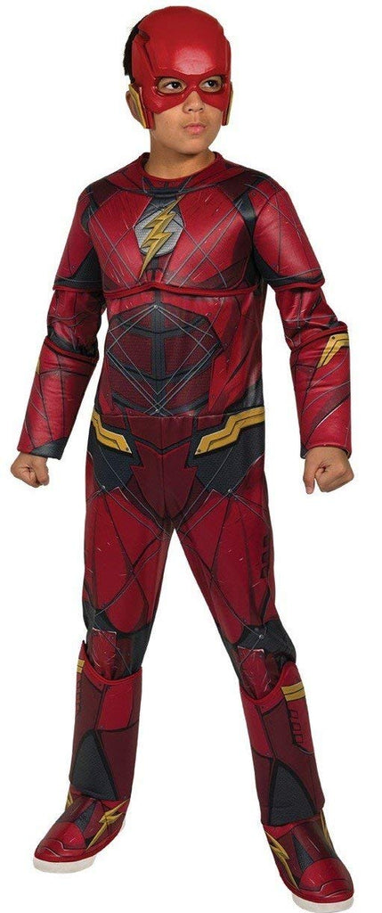 Rubie's Costume Boys Justice League Deluxe Flash Costume, Large, Multicolor