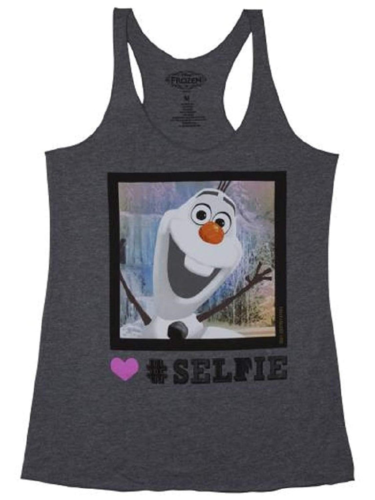 Frozen Olaf Selfie Juniors Tank Top Tee M