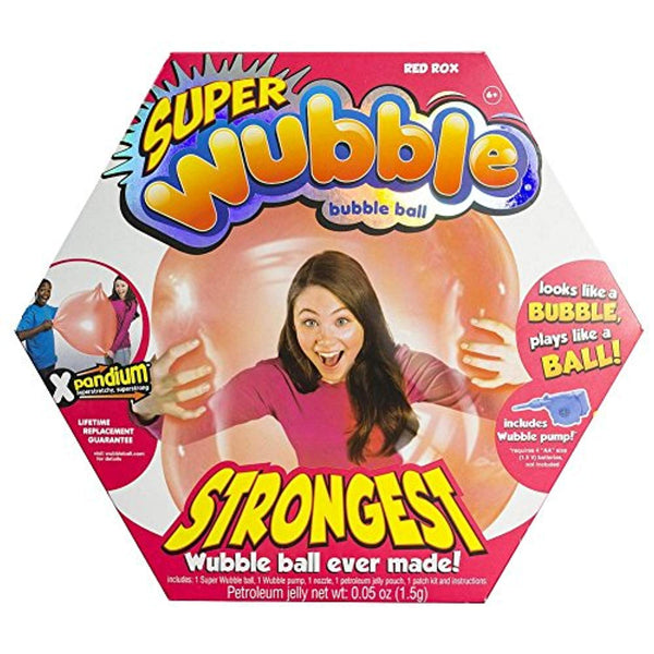 WUBBLE The Amazing Tear-Resistant Super Bubble Ball - Red