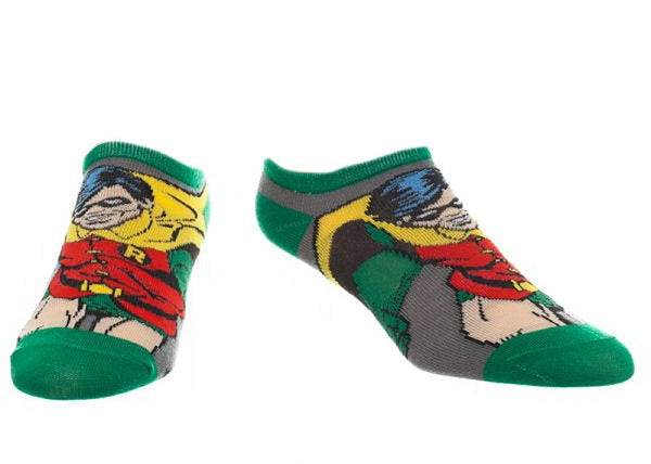 ae4530d22e0 DC Comics Character Adult No Show Ankle Socks 1 Pair (Robin)  Apparel
